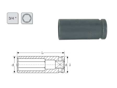 Slagmoerdopsleutel lang   DKMTools - DKM Tools