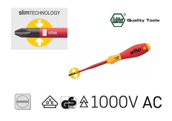 Wiha 3201 Slimfix VDE Sleufkopschroevendraaier | DKMTools - DKM Tools