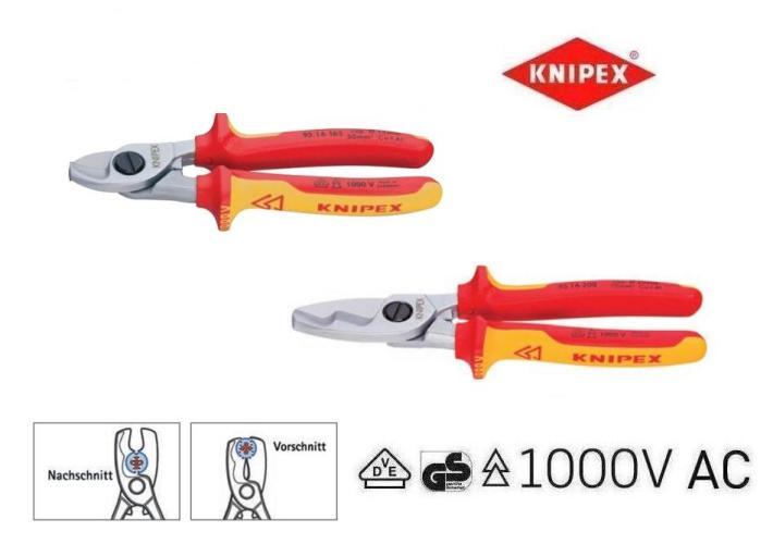 Knipex VDE kabelscharen | DKMTools - DKM Tools