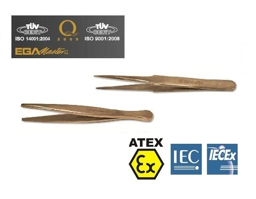 Vonkvrije pincetten Aluminium Brons   DKMTools - DKM Tools
