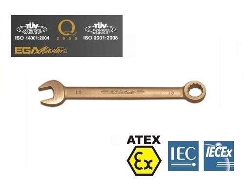 Vonkvrije ringsteeksleutels Aluminium Brons metris   DKMTools - DKM Tools