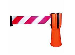 Afzetpaal met uittrekbaar lint voor verkeerskegel | DKMTools - DKM Tools