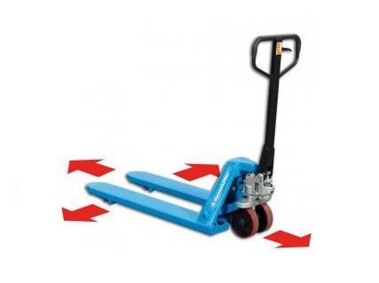 Handpalletwagen zijwaarts rijdbaar | DKMTools - DKM Tools