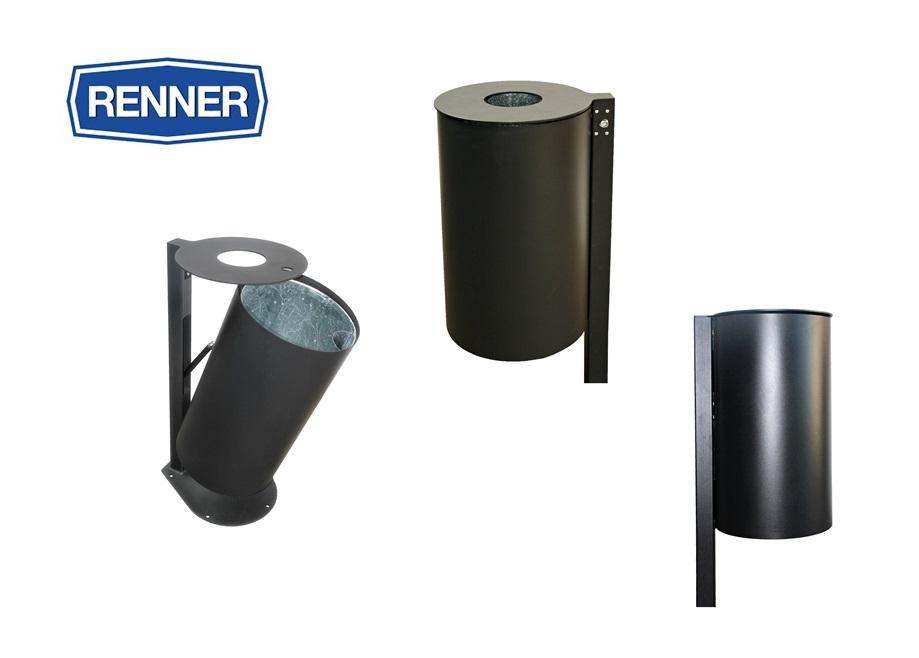 Afvalbak met deksel en paal | DKMTools - DKM Tools