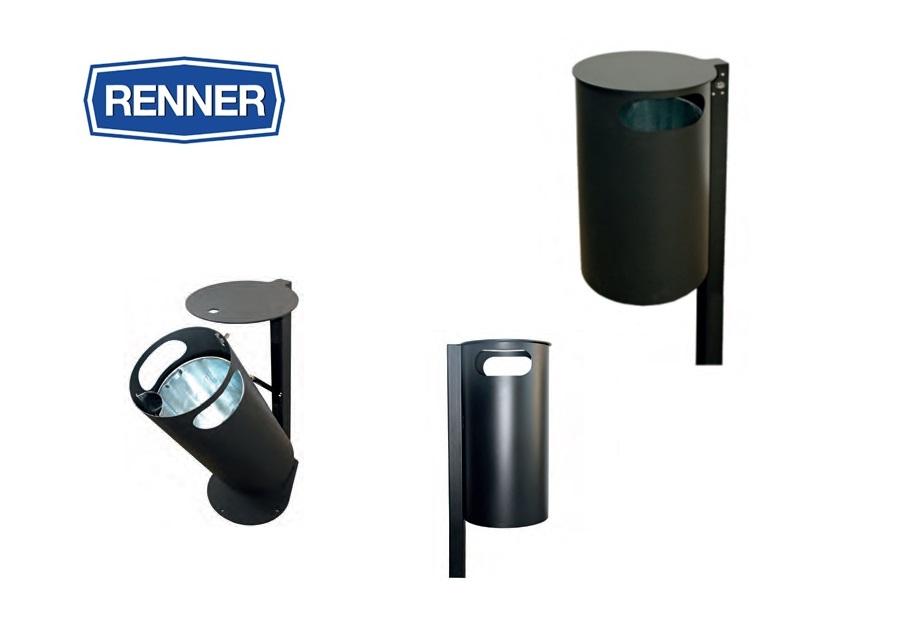 Afvalbak met gesloten deksel en paal | DKMTools - DKM Tools