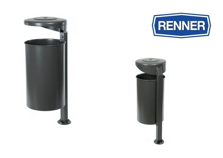 Ronde afvalbak met asbak 7084 | DKMTools - DKM Tools