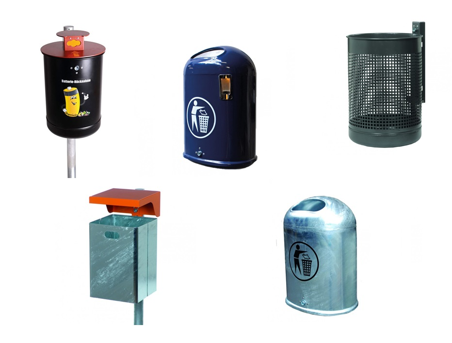 Afvalbak voor muur en paalmontage | DKMTools - DKM Tools