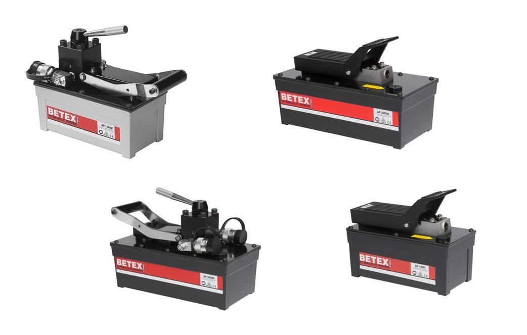 lucht aangedreven hydraulische Voetpomp AP   DKMTools - DKM Tools