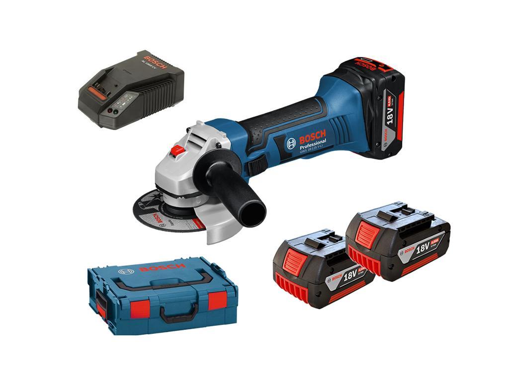 Bosch Accu haakse slijper GWS 18 125 V Li | DKMTools - DKM Tools