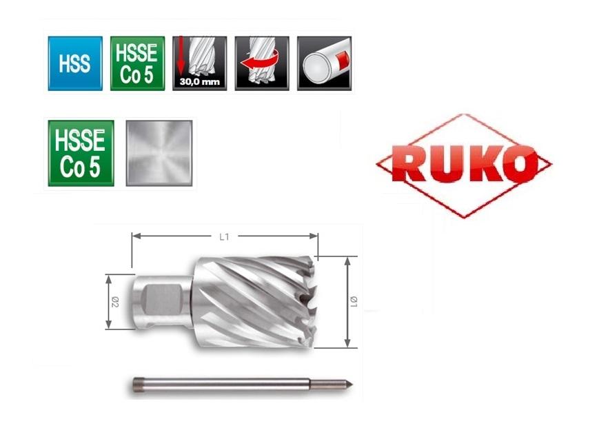 Kernboor HSSE Co 5. CBN geslepen | DKMTools - DKM Tools