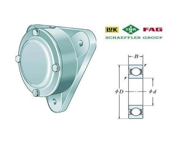 FAG F500 B Flenslagerhuizen | DKMTools - DKM Tools