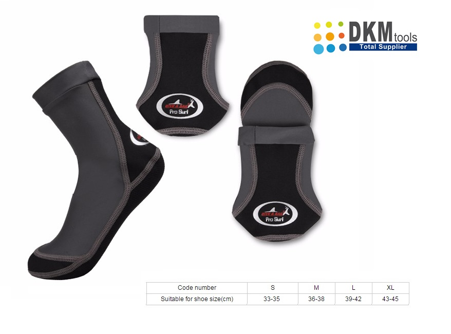 Beachsokken Grijs Zwart   DKMTools - DKM Tools