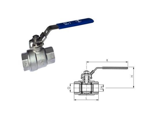 RVS kogelkranen 2 delig | DKMTools - DKM Tools