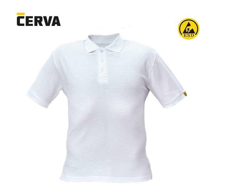 NOYO ESD polo-shirt wit | DKMTools - DKM Tools