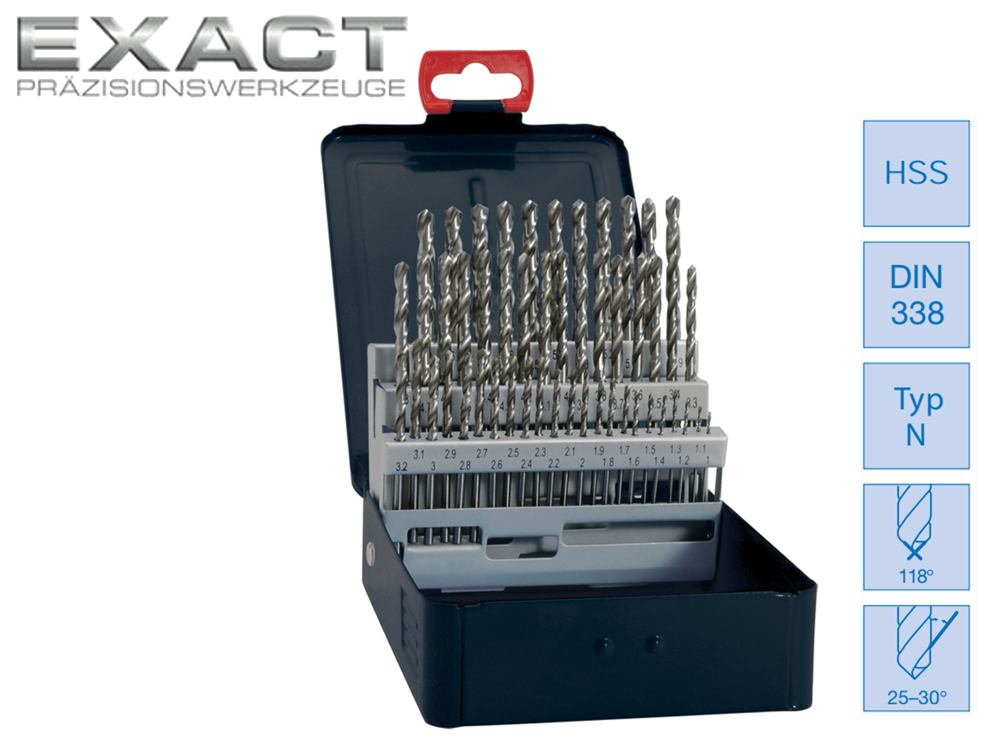 Spiraalboor set DIN 338 N HSS geslepen blank | DKMTools - DKM Tools