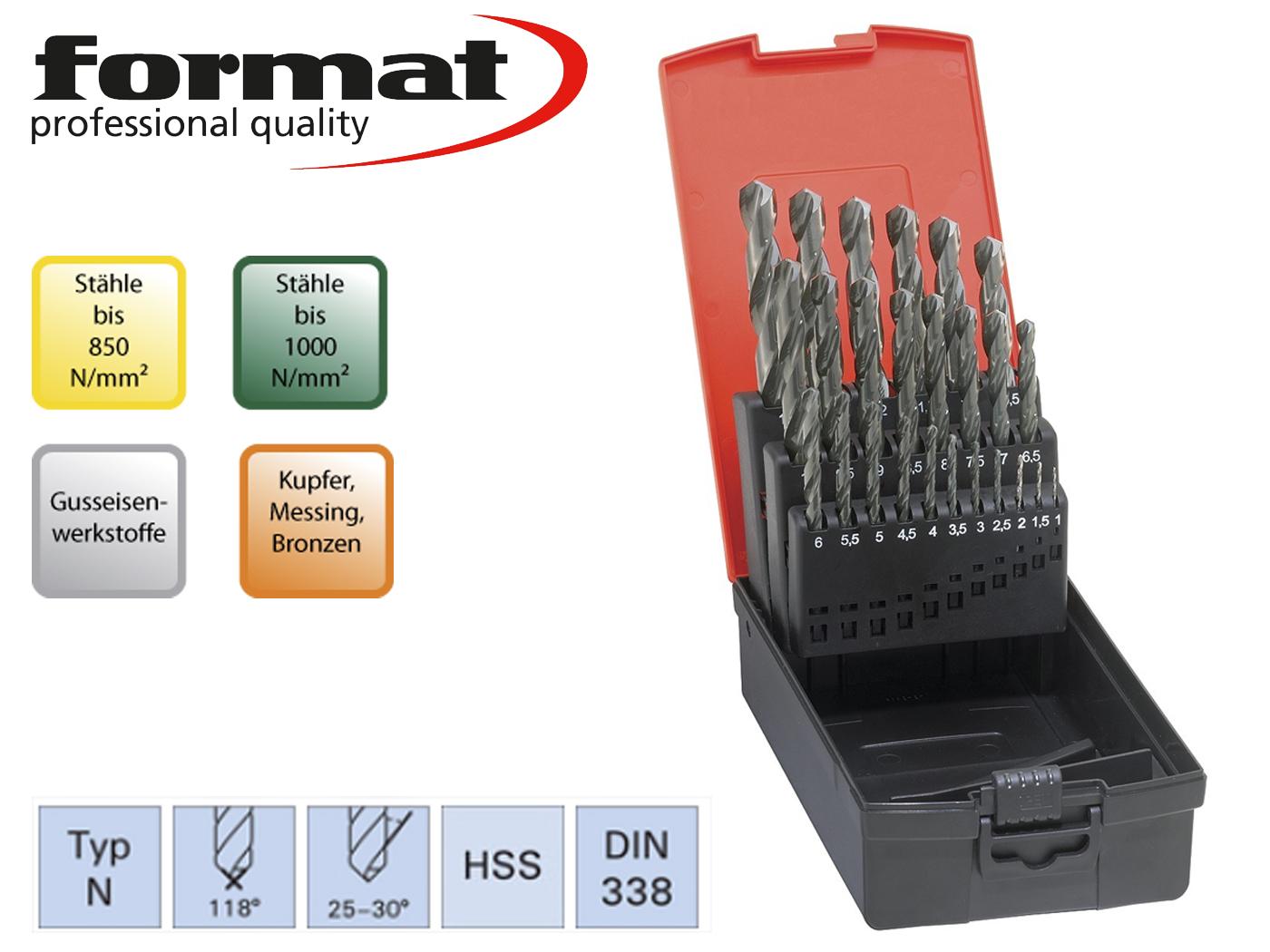 Spiraalboren set DIN 338 N HSS geslepen Format | DKMTools - DKM Tools