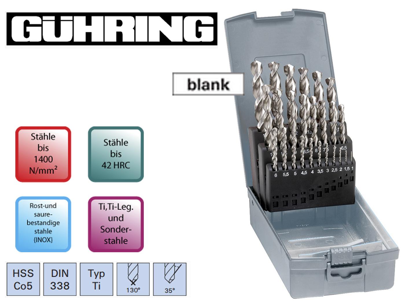Spiraalborenset DIN 338 Ti HSSECo5 Guhring | DKMTools - DKM Tools