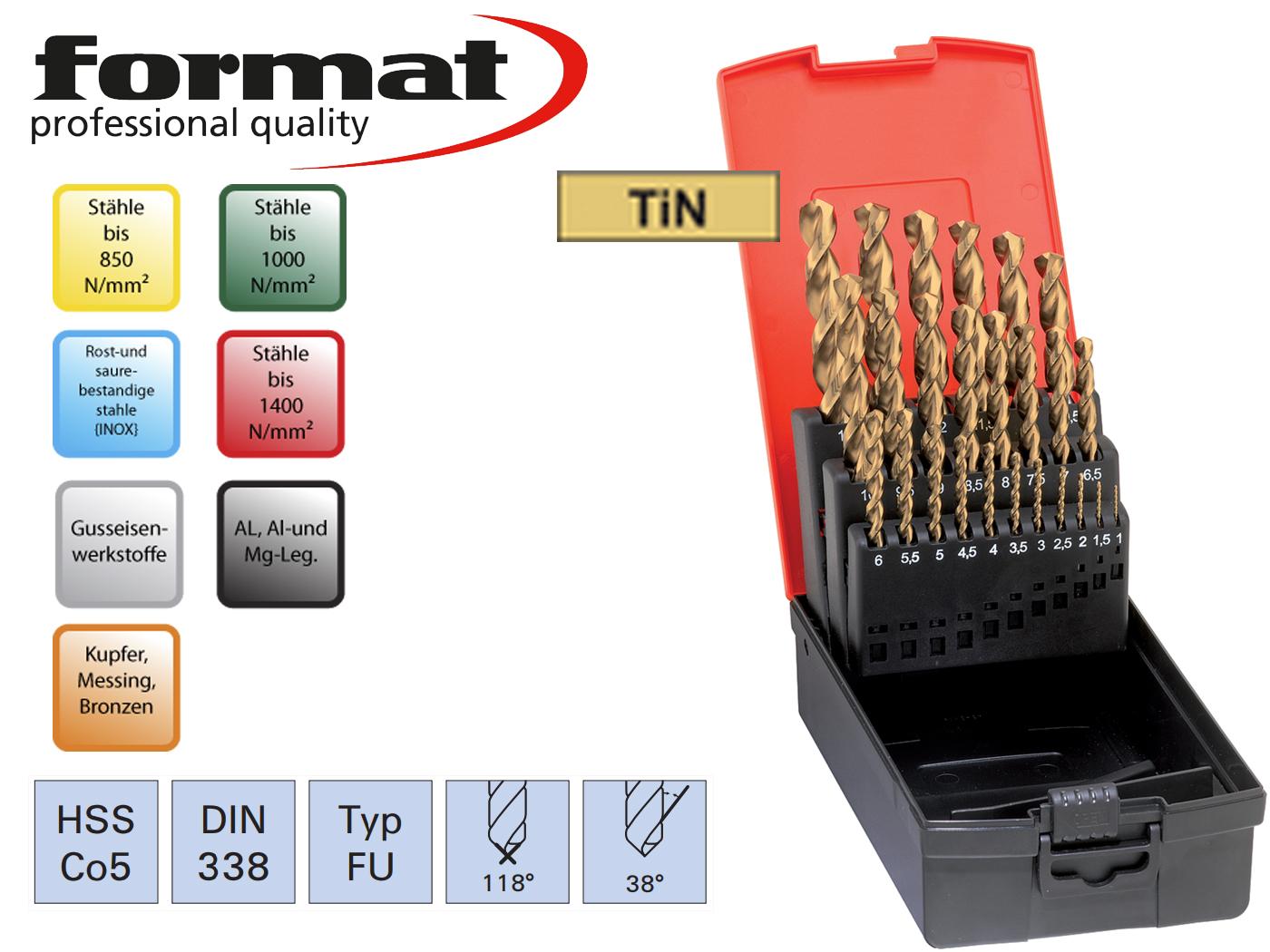 Spiraalborenset DIN 338 HSSECo5 FU FORMAT | DKMTools - DKM Tools