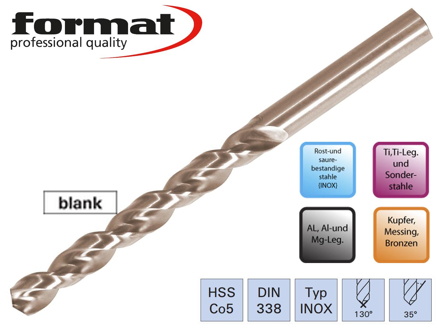 Spiraalborenset DIN 338 TF HSSCo5 FORMAT | DKMTools - DKM Tools
