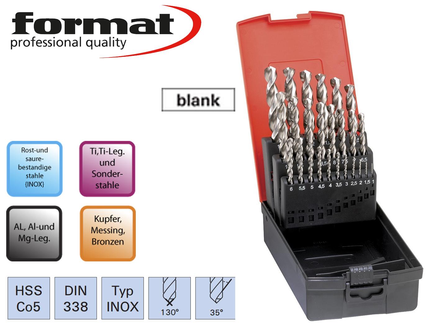 Spiraalboren set DIN 338 VA HSSECo5 FORMAT | DKMTools - DKM Tools