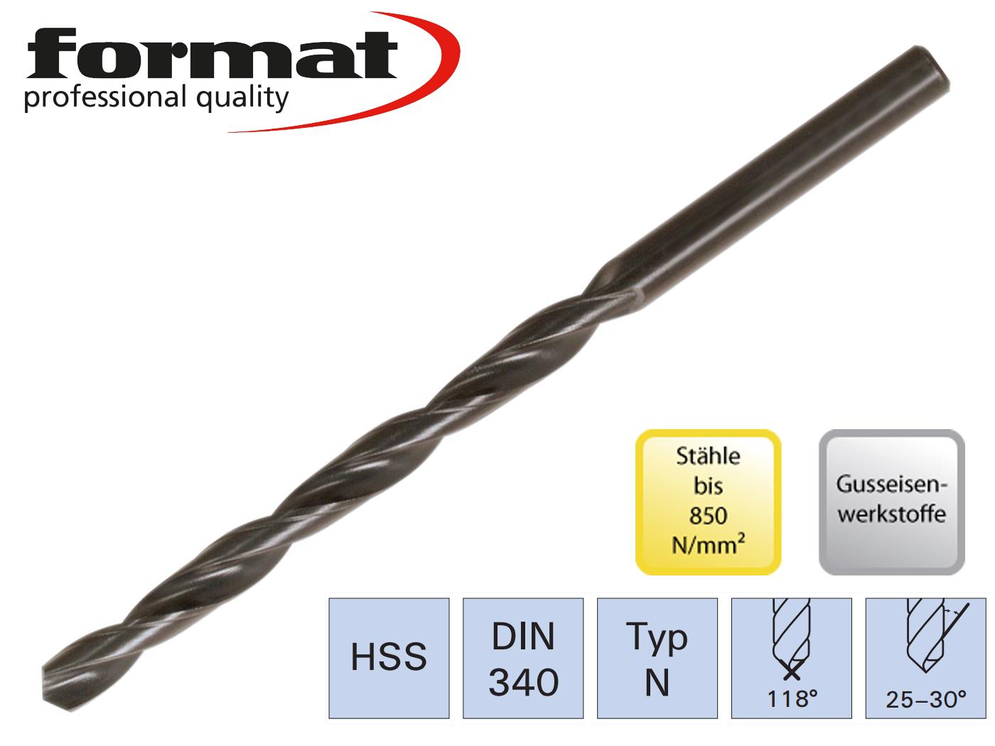 Spiraalboor DIN 340 N HSS FORMAT | DKMTools - DKM Tools