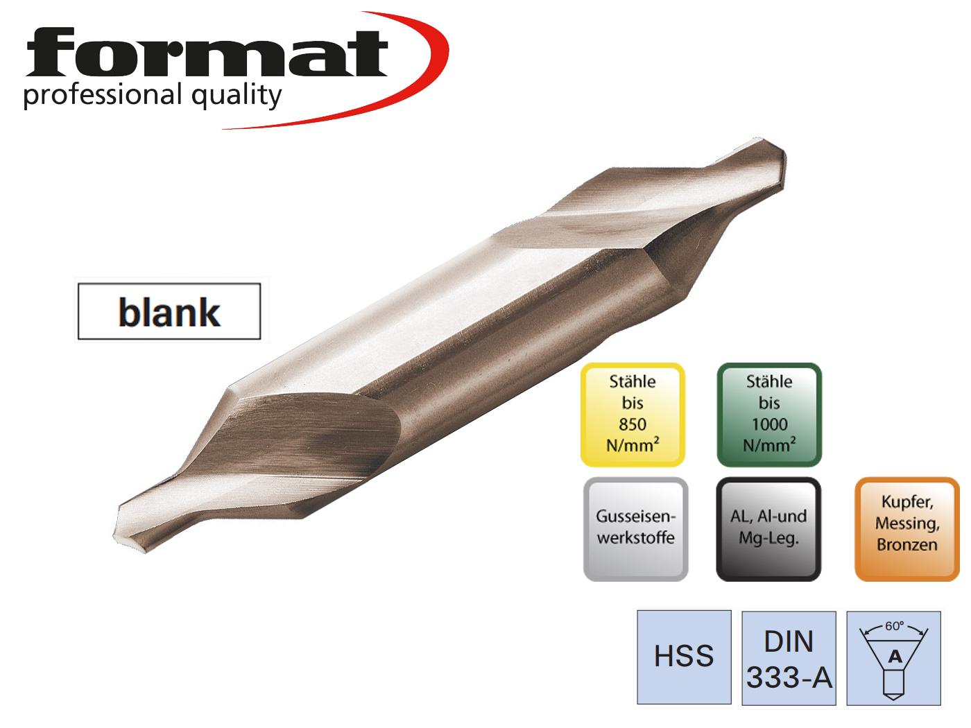 Centreerboren DIN 333 A HSS FORMAT   DKMTools - DKM Tools