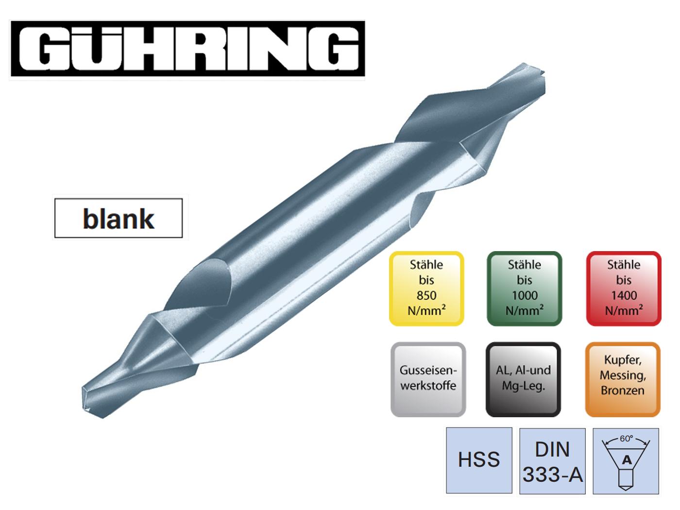 Centreerboren DIN 333 A HSS Guhring | DKMTools - DKM Tools