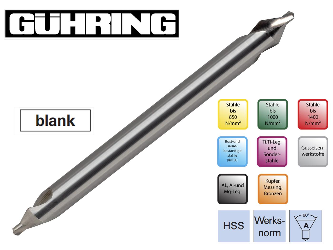 Centreerboor extra lang HSS Guhring | DKMTools - DKM Tools