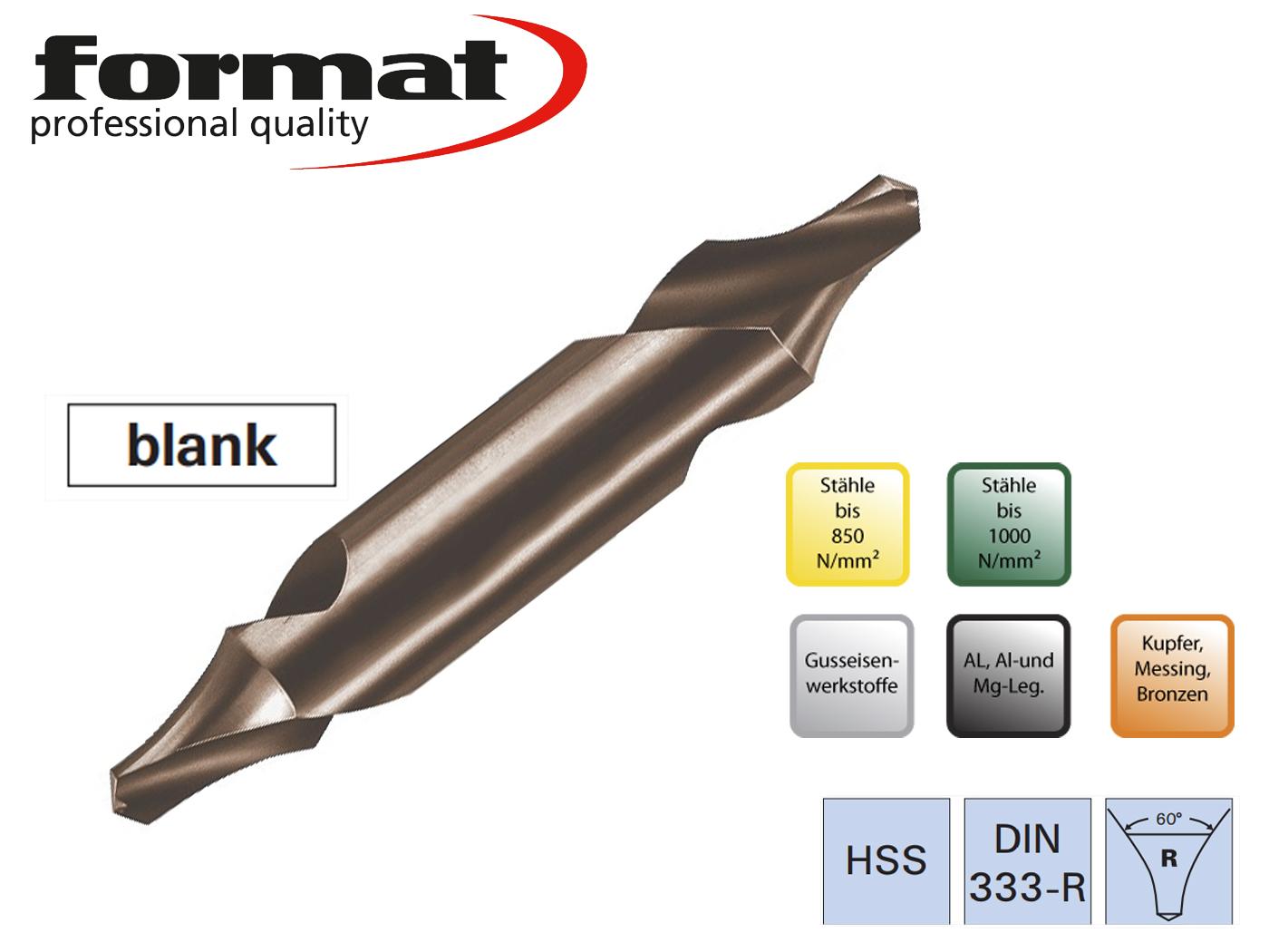 Centreerboren DIN 333 R FORMAT   DKMTools - DKM Tools
