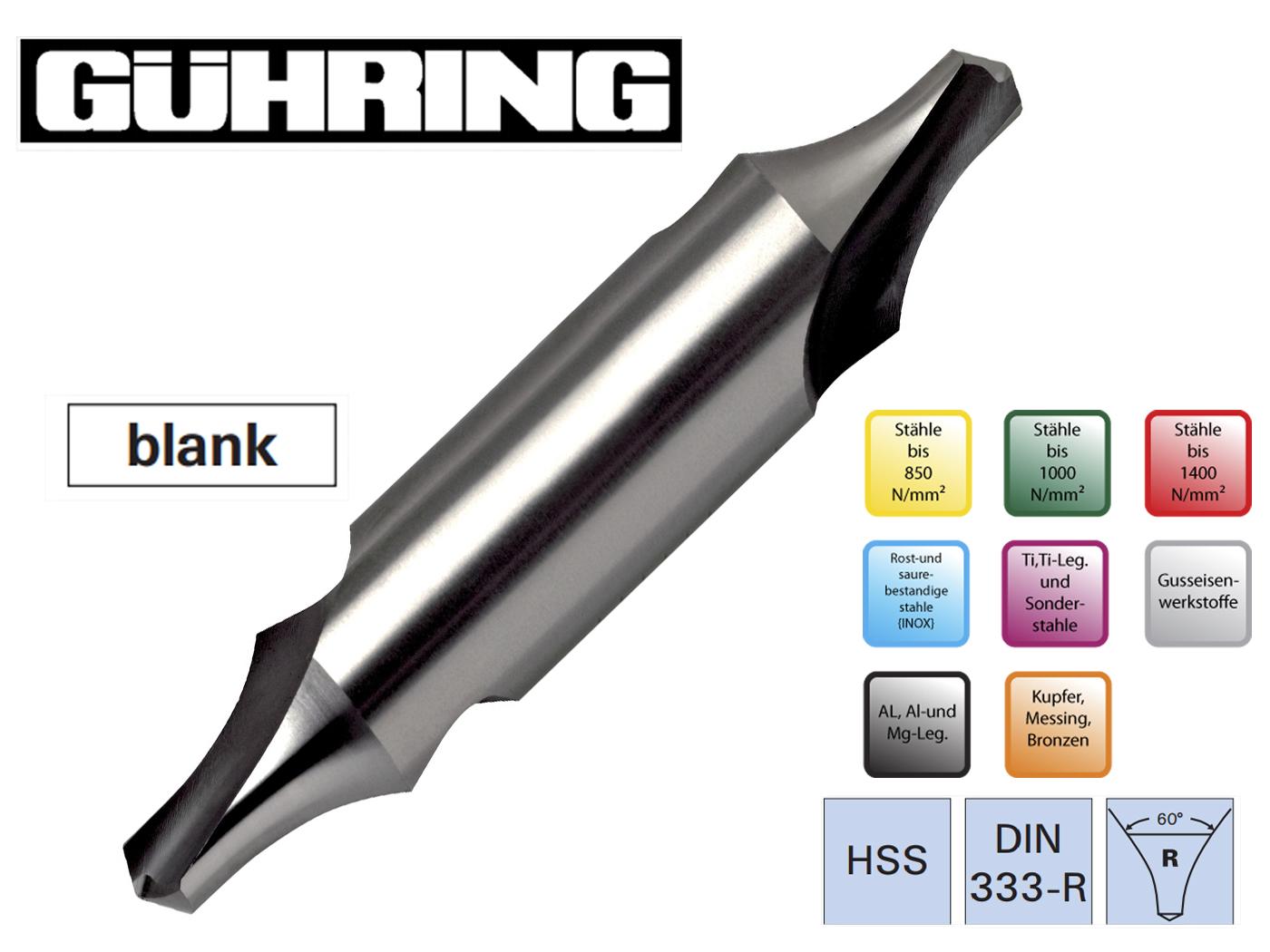 Centreerboren DIN 333 R linksdraaiend Guhring | DKMTools - DKM Tools