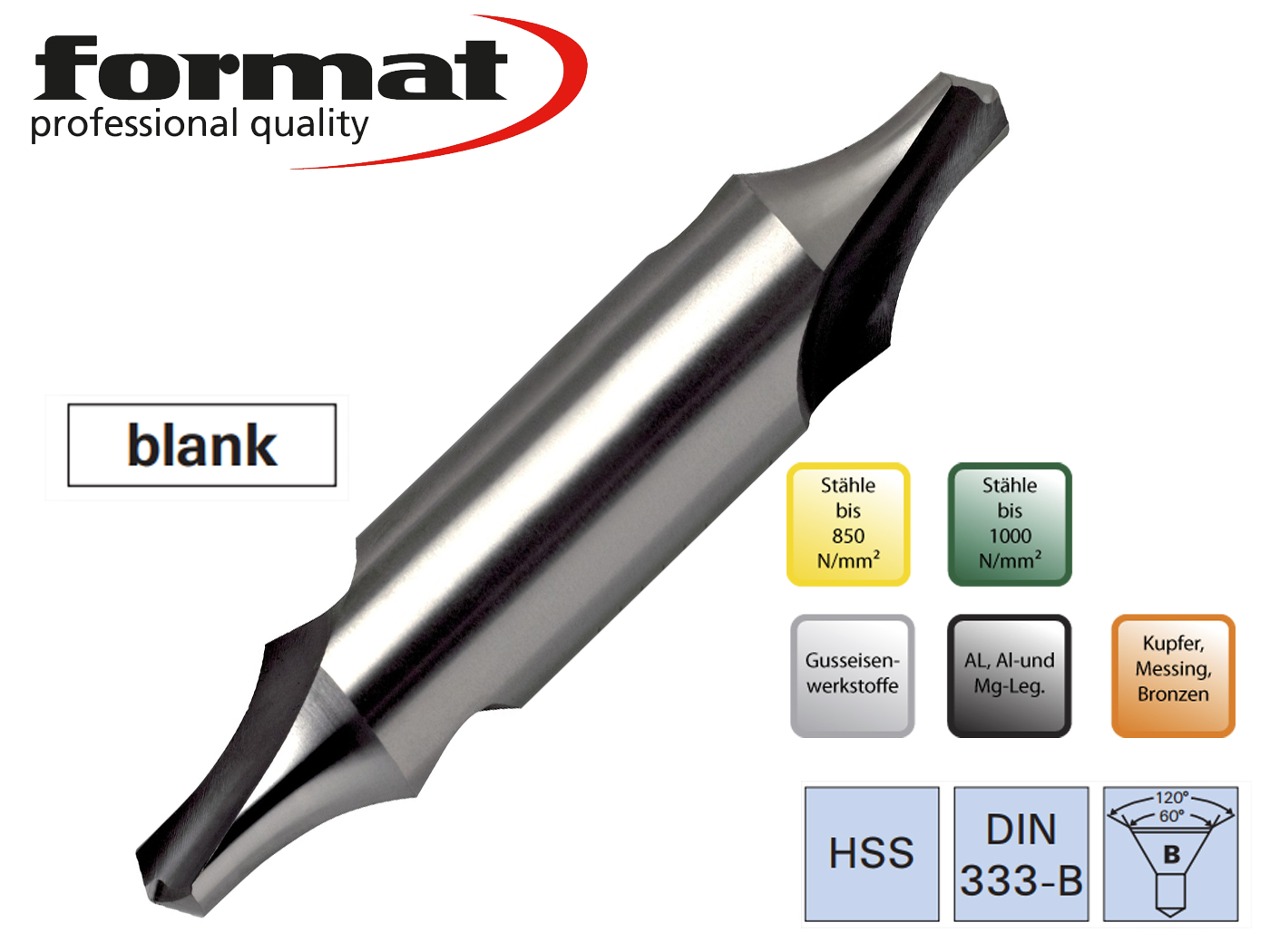 Centreerboren DIN 333 B FORMAT   DKMTools - DKM Tools