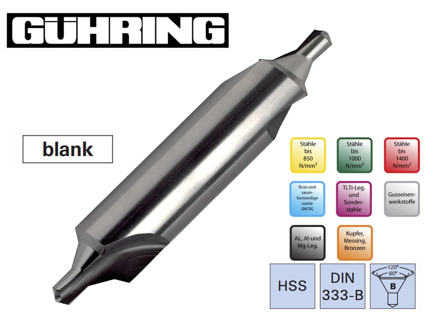 Centreerboren DIN 333 B Ghuring   DKMTools - DKM Tools