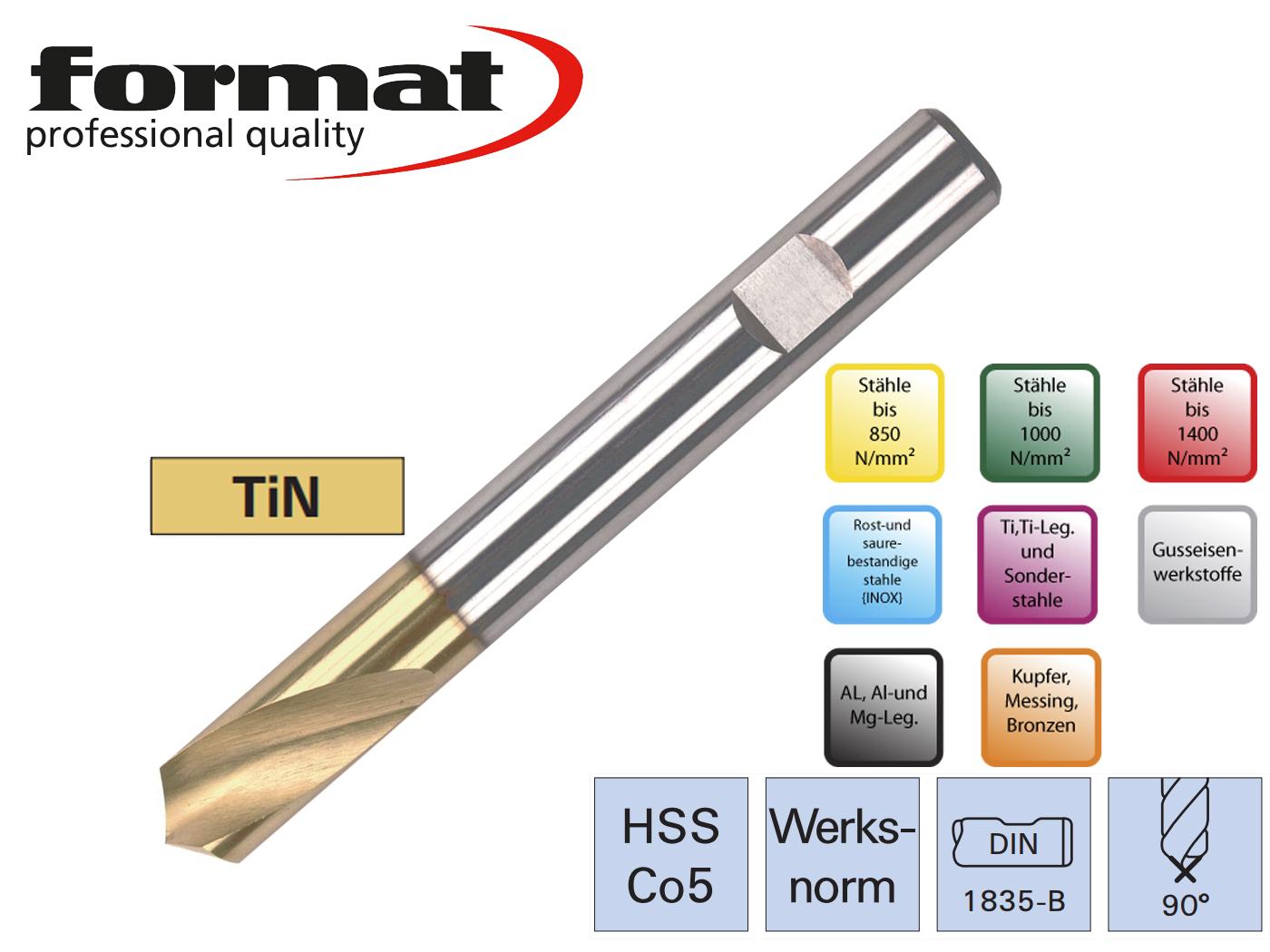 Centerboor NC DIN 1835 B HSSCo5 90G TiN FORMAT | DKMTools - DKM Tools