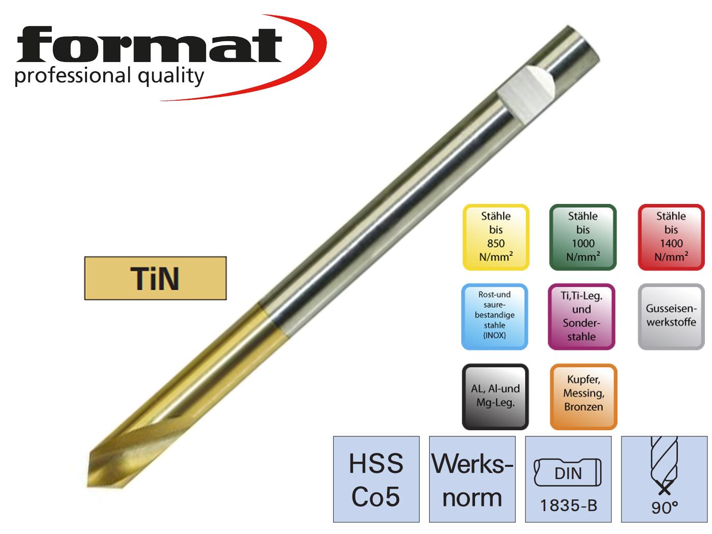 Centerboor NC DIN 1835 B HSSCo5 90G lang FORMAT | DKMTools - DKM Tools