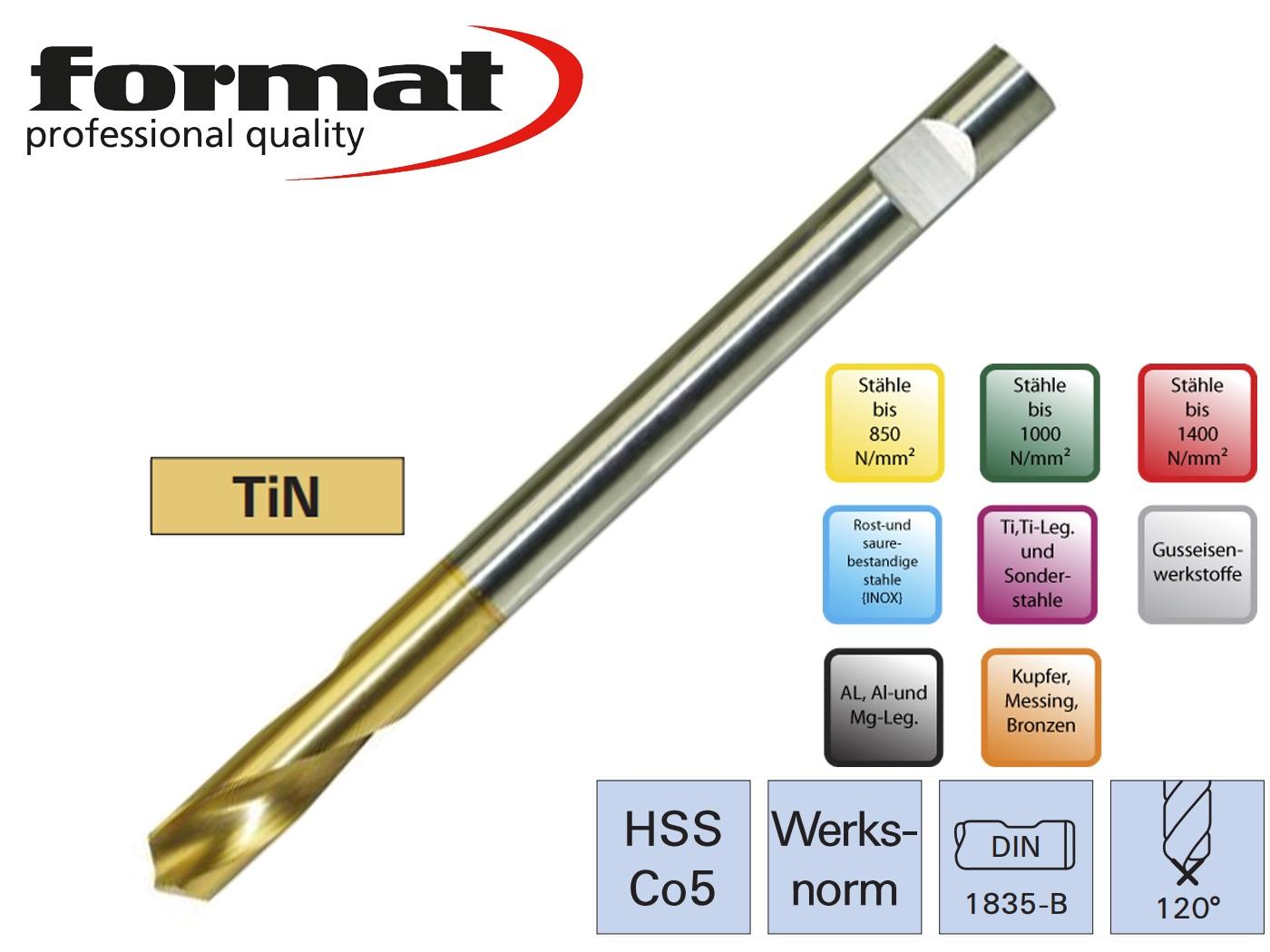 Centerboor NC DIN 1835 B HSSCo5 120G lang FORMAT | DKMTools - DKM Tools