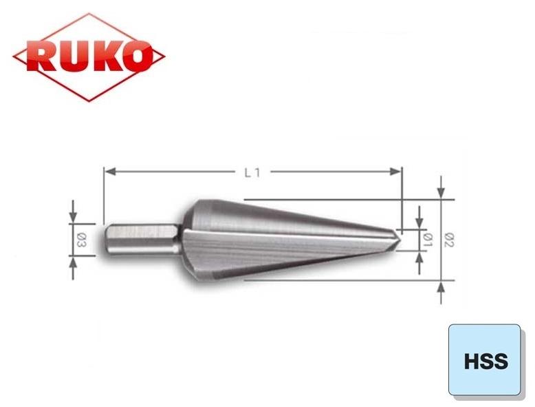 Conische Plaatboor HSS Ruko | DKMTools - DKM Tools