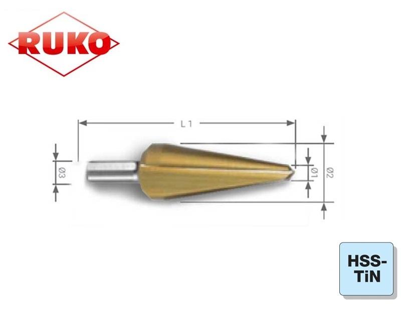 Conische Plaatboor HSS TiN Ruko | DKMTools - DKM Tools