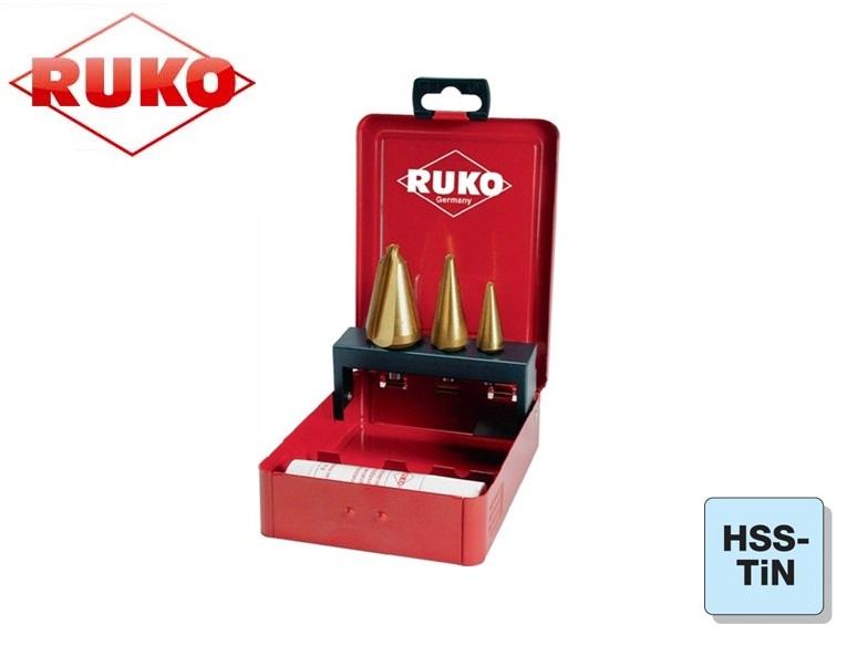 Conische Plaatboren Set HSS TiN Ruko | DKMTools - DKM Tools