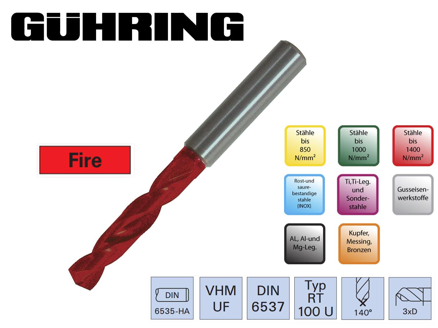Superline Spiraalboor VHM DIN 6537 HA fire | DKMTools - DKM Tools