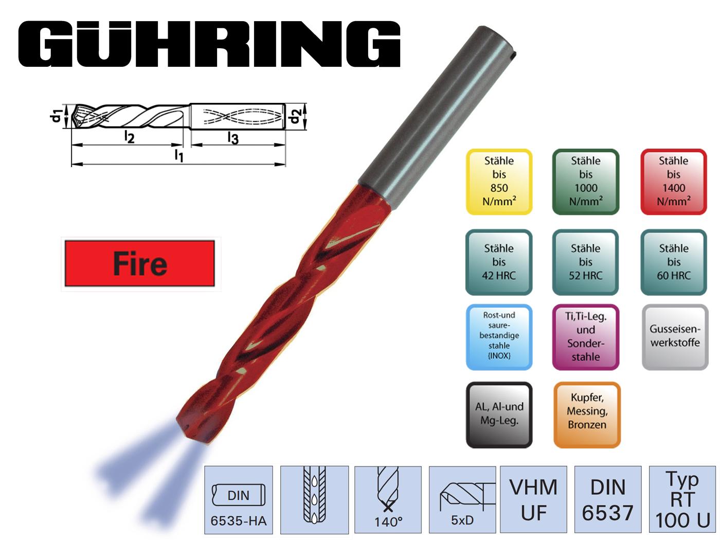 Superline Spiraalboor VHM DIN 6537 HA IK 5xD | DKMTools - DKM Tools