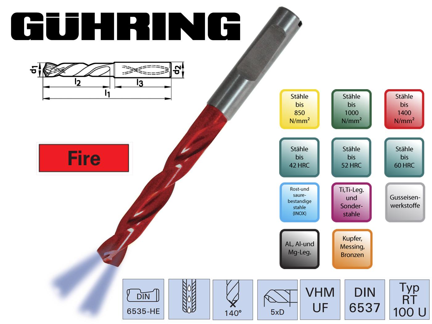 Superline Spiraalboor VHM DIN 6537 HE IK 5xD | DKMTools - DKM Tools