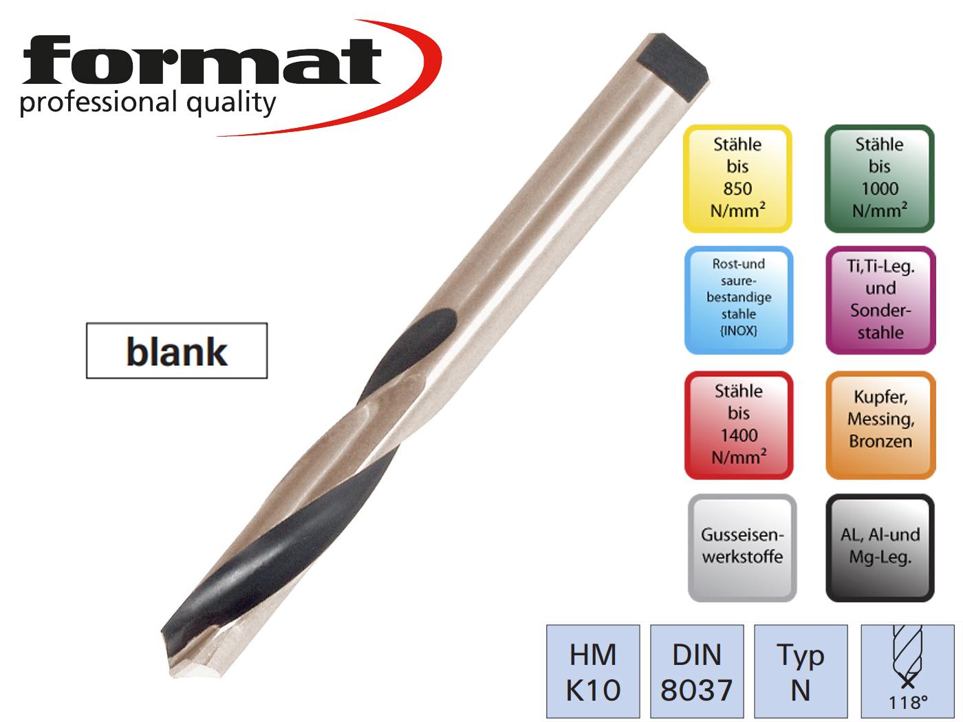 Spiraalboor VHM DIN 8037 N HM   DKMTools - DKM Tools