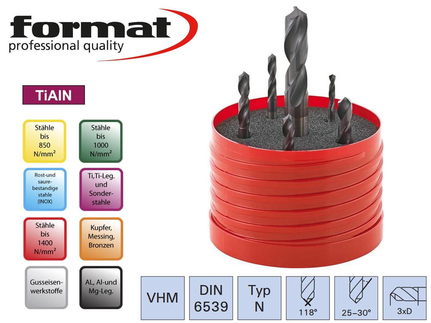 Spiraalboor set DIN 6539 N TiALN   DKMTools - DKM Tools