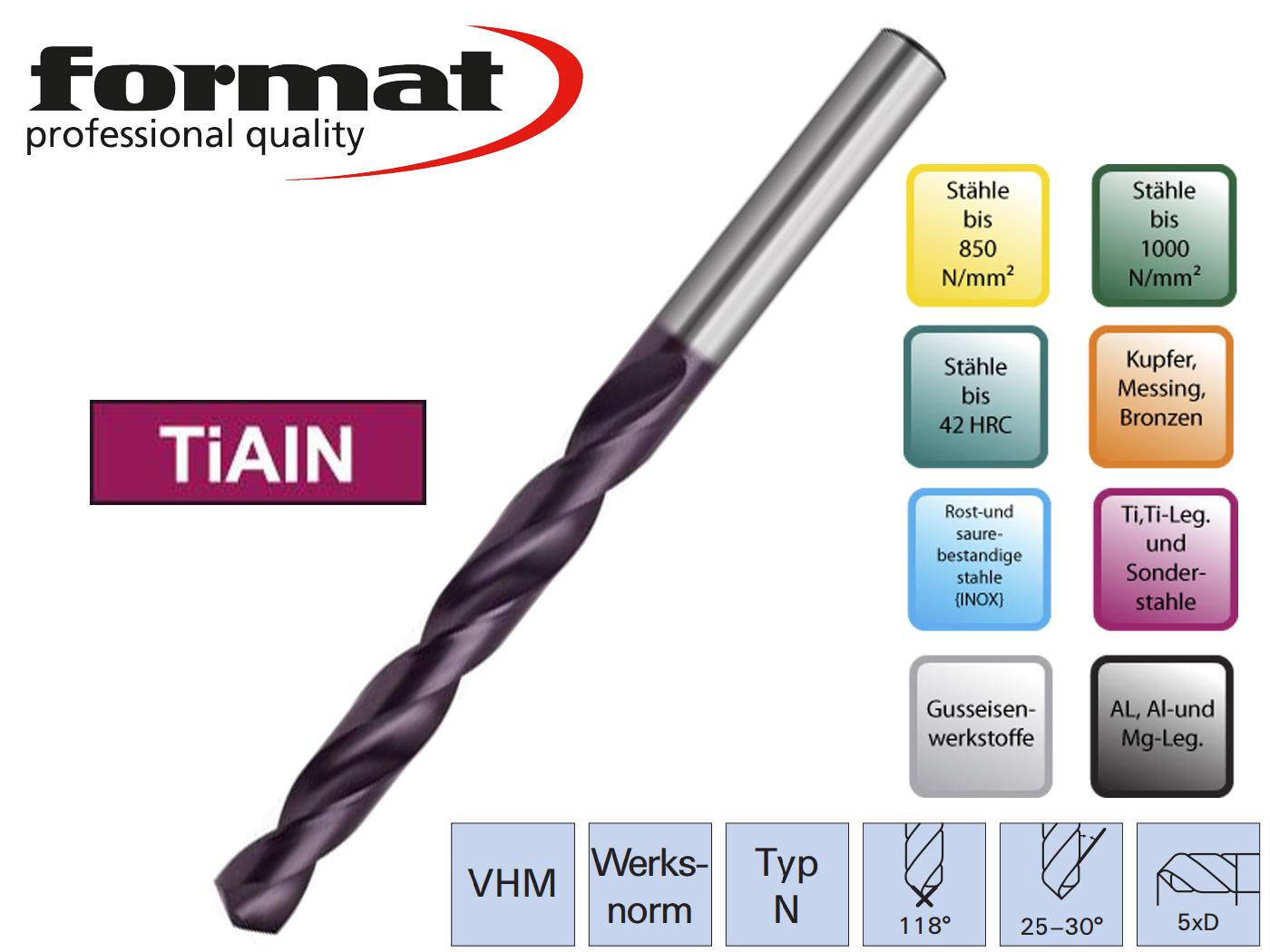 Spiraalboor VHM DIN 338 N VHM TiALN   DKMTools - DKM Tools