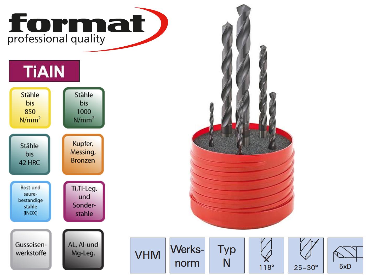 Spiraalboor set DIN 338 N VHM TiALN   DKMTools - DKM Tools