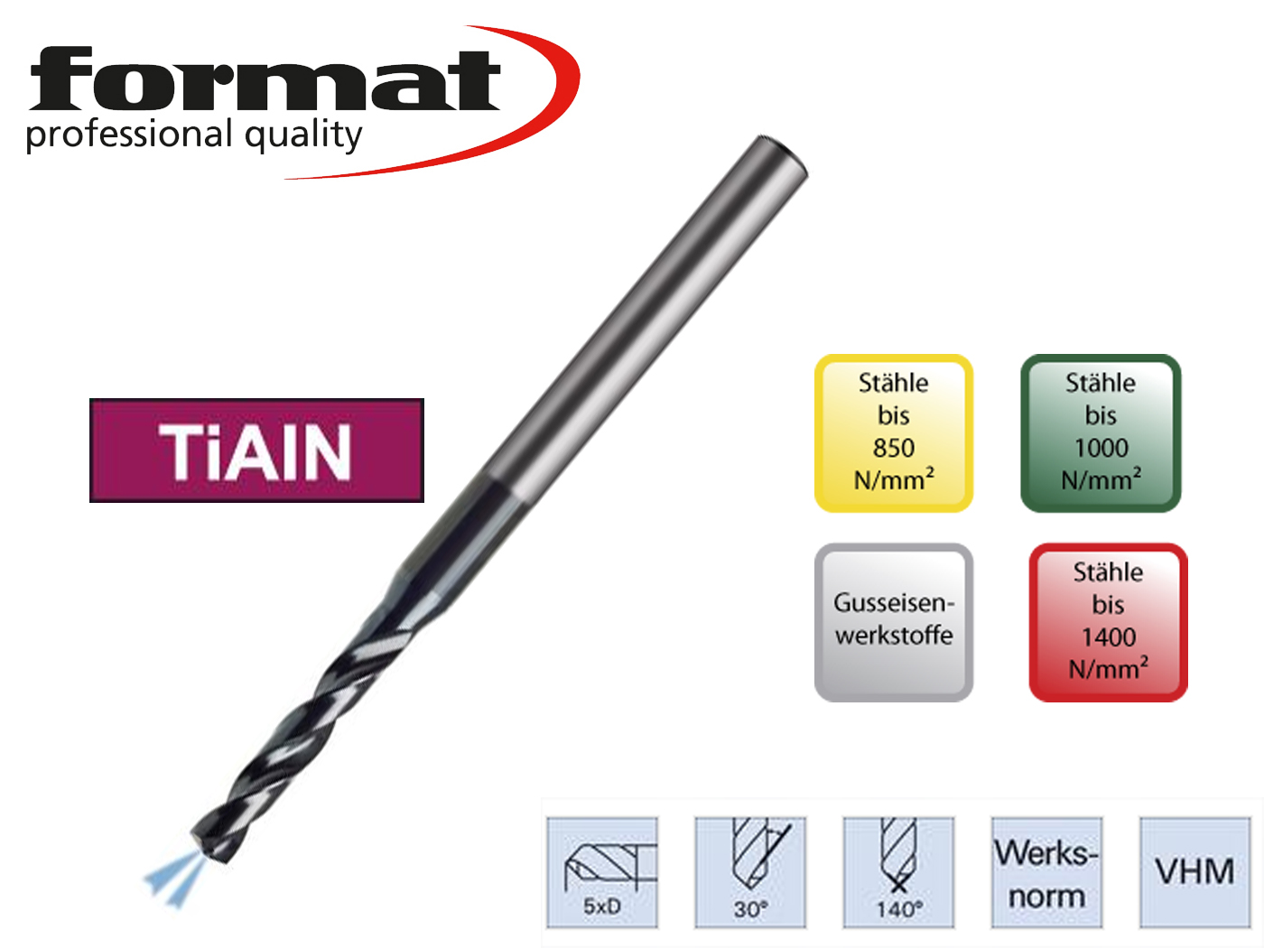 Spiraalboor VHM WN 5xd2   DKMTools - DKM Tools