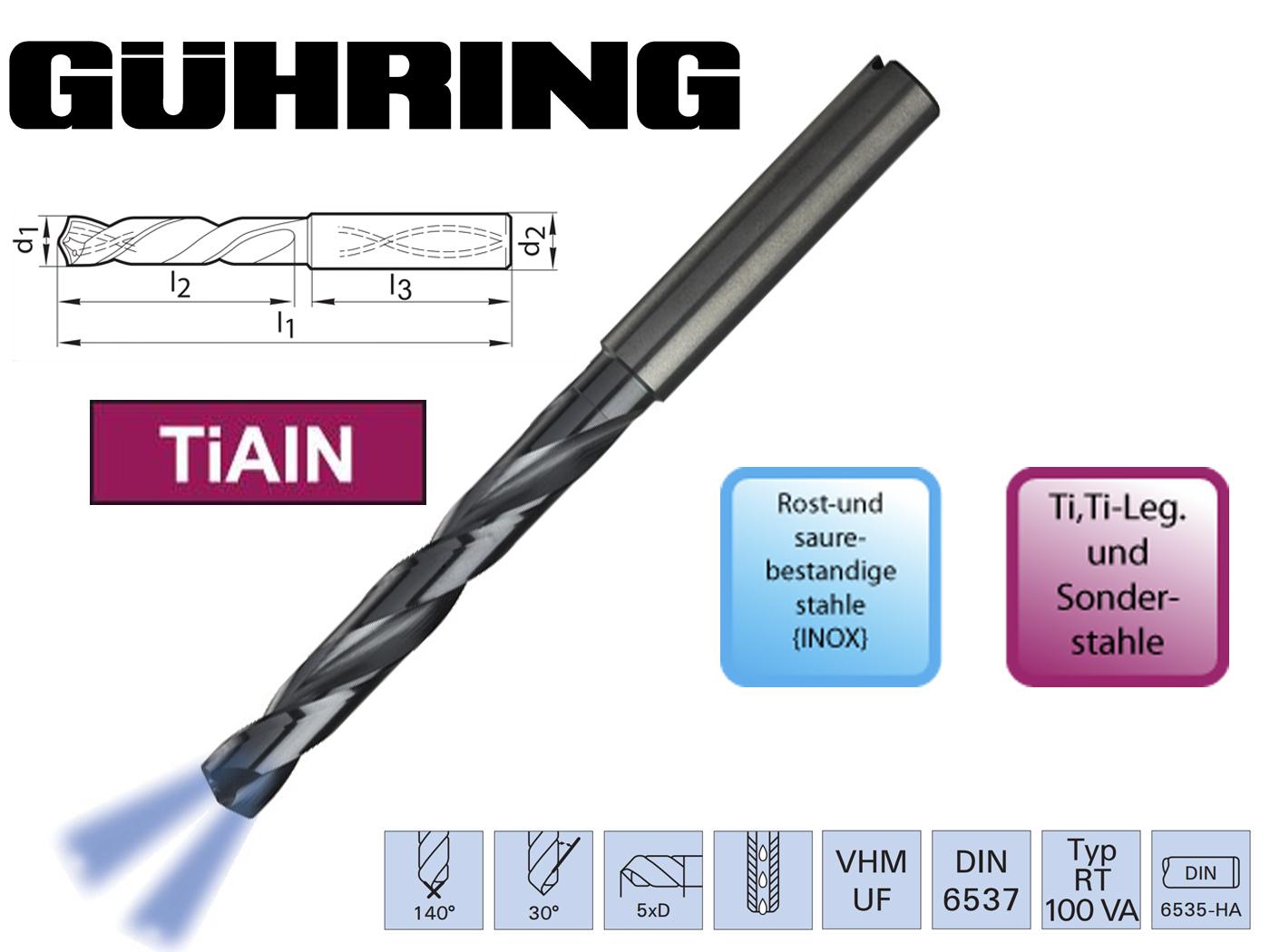 RT boor VHM DIN 6537 HA 5xd   DKMTools - DKM Tools