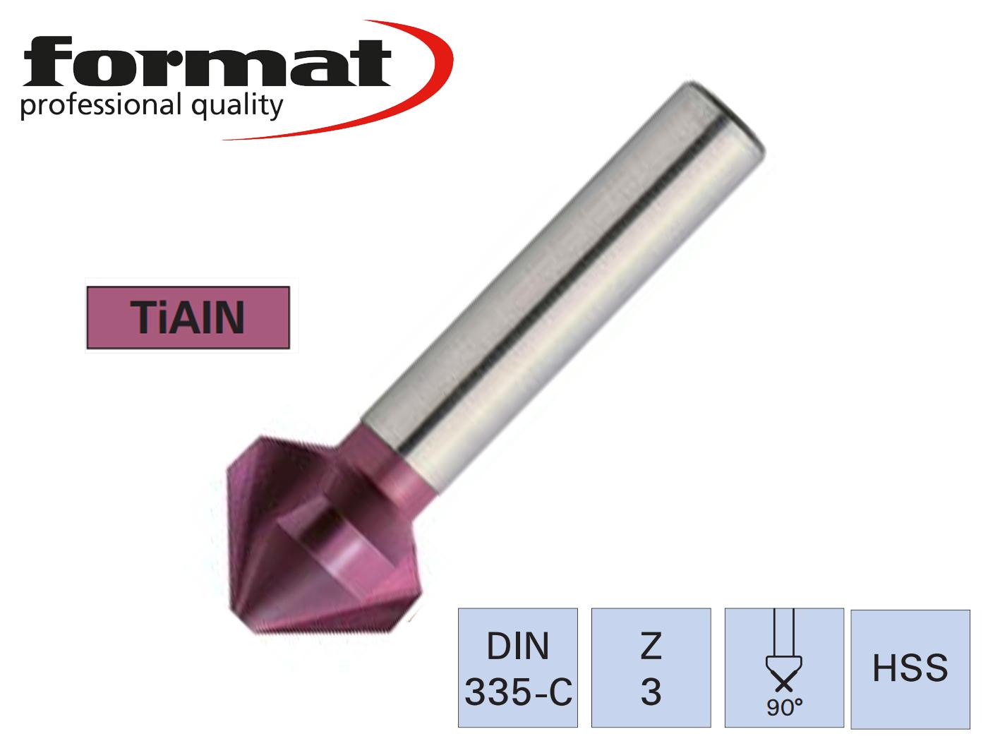 Verzinkboor DIN 335 C 90G TiAIN   DKMTools - DKM Tools