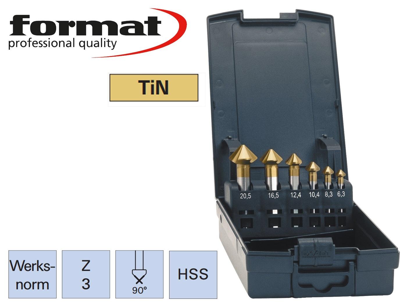 verzinkboor set DIN 335C HSS TiN ADVANCED exact   DKMTools - DKM Tools