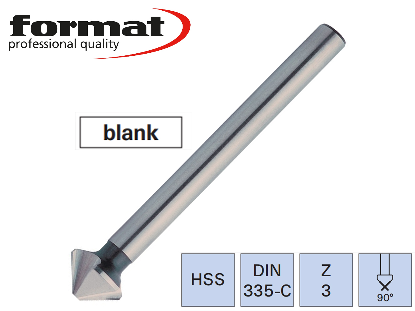 verzinkboor DIN 335 C HSS lang 90G FORMAT   DKMTools - DKM Tools